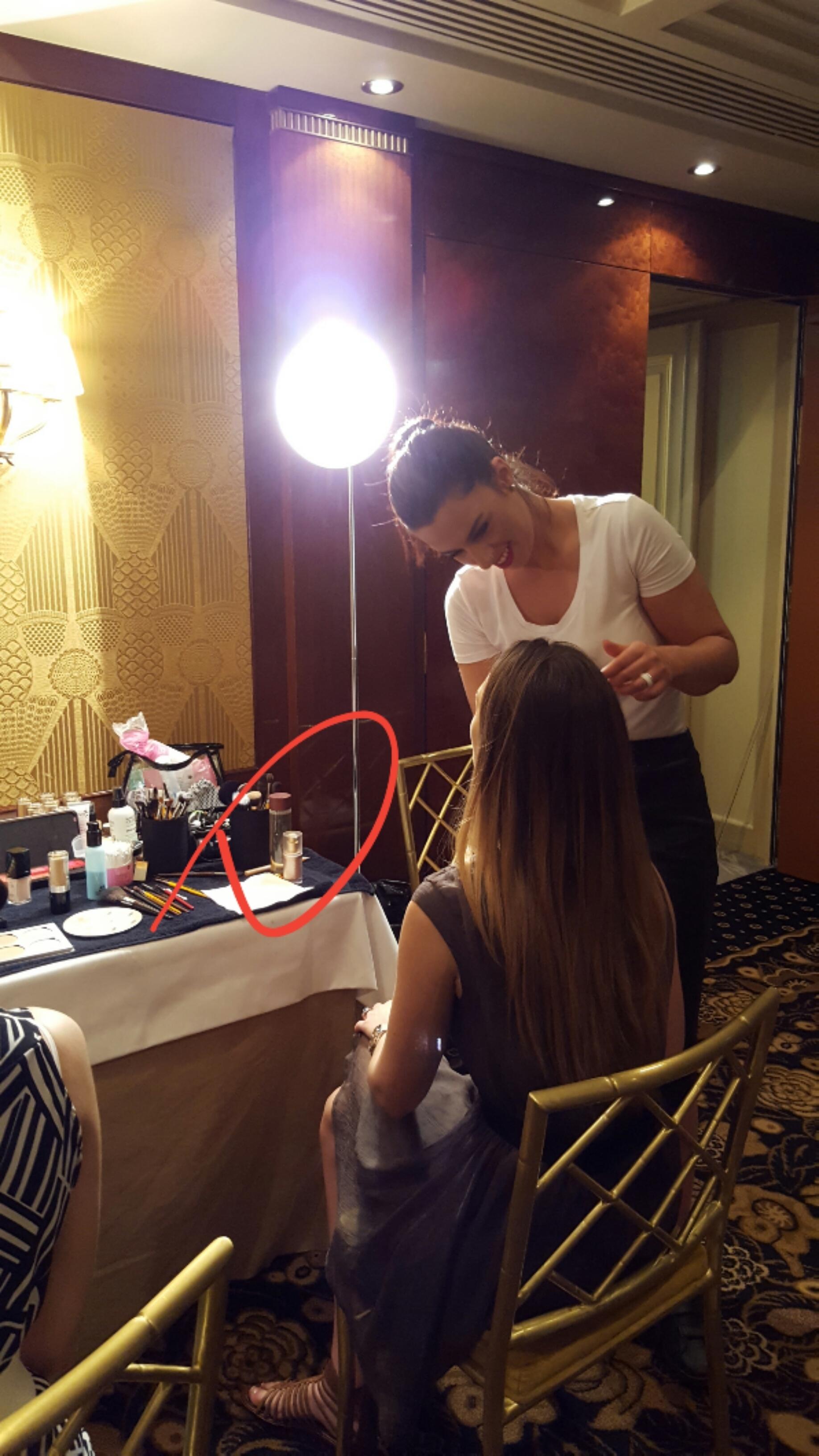 Visoanska products on fashion show backstage
