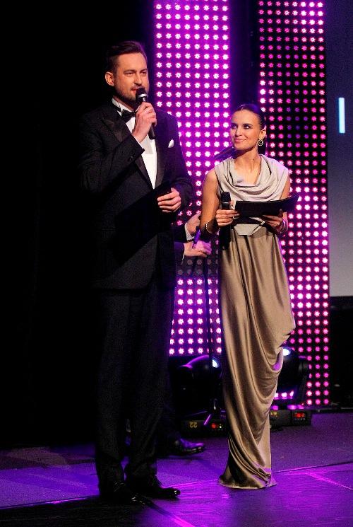 Marcin Prokop and Joanna Horodyńska hosting the ceremony