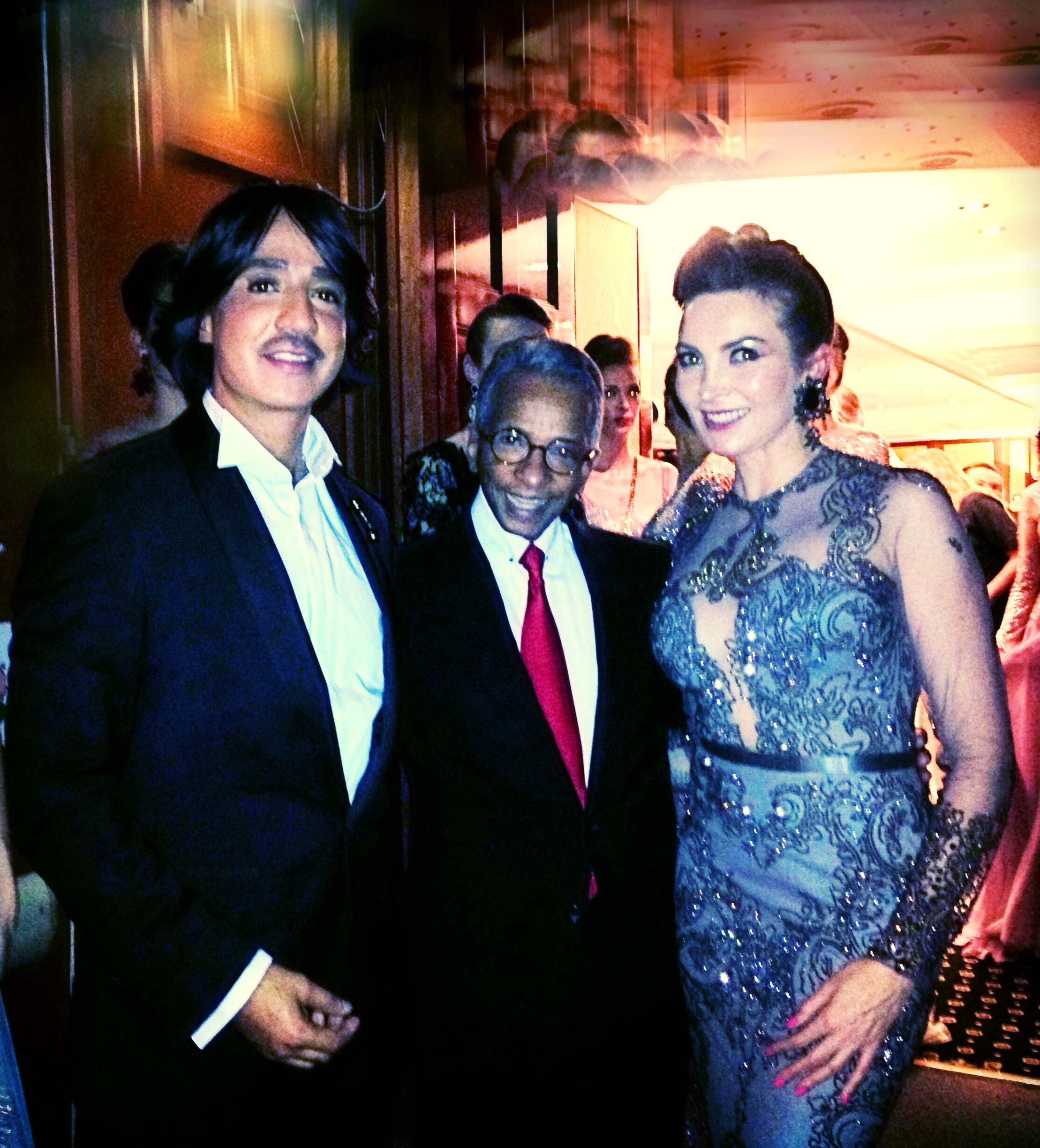Elisabeth Visoanska with Hany El Behairy and Mohamed Al Sagheer
