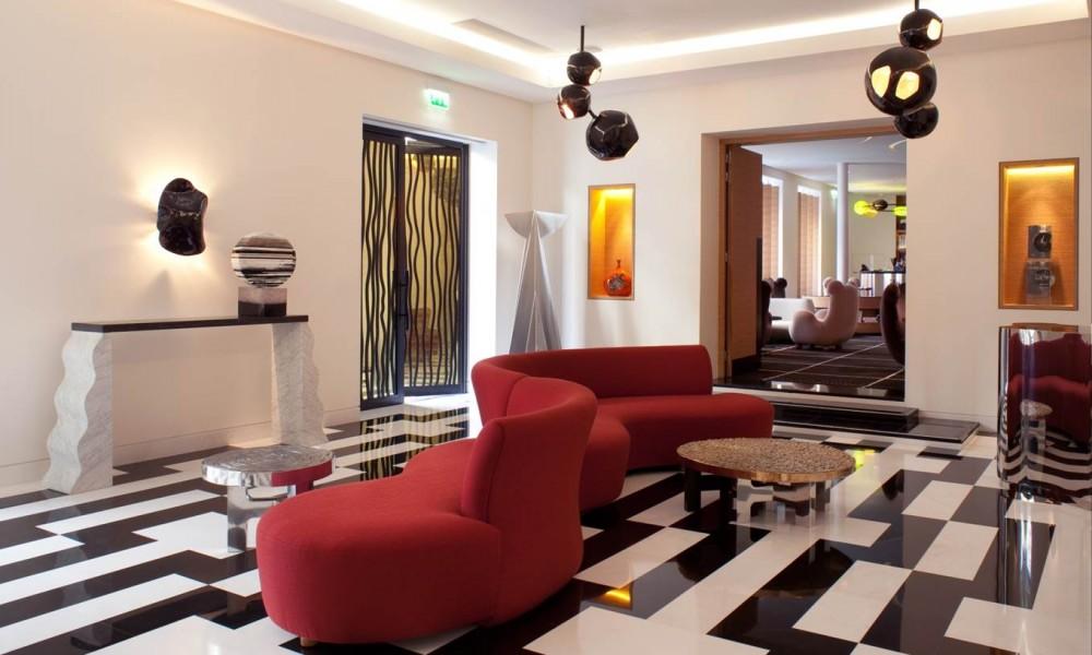Lobby de l'hotel Marignan Paris